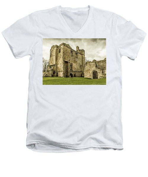 Men's V-Neck T-Shirt featuring the photograph Castle Of Ashby by Nick Bywater