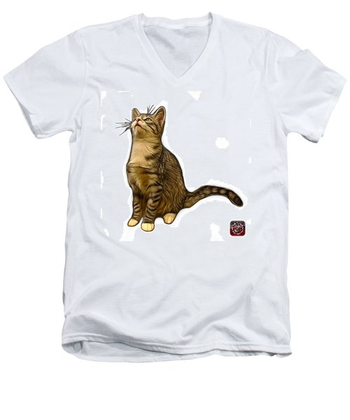 Cat Art - 3771 Wb Men's V-Neck T-Shirt