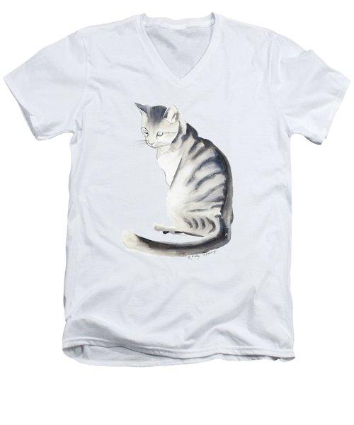 Cat Art I Men's V-Neck T-Shirt by Melly Terpening