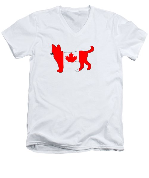 Cat Canada Men's V-Neck T-Shirt