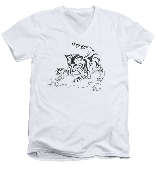 Cat- Cute Kitty  Men's V-Neck T-Shirt