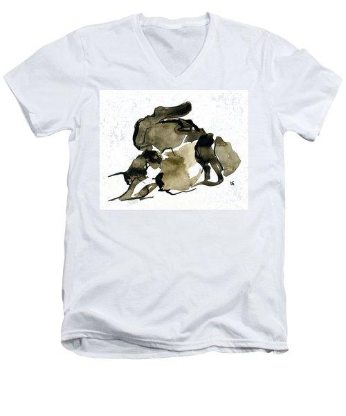 Cat Nap - 2 Men's V-Neck T-Shirt