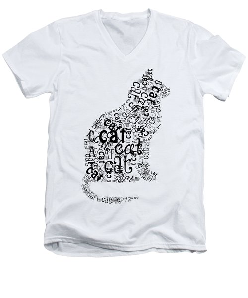 Cat Noir Men's V-Neck T-Shirt