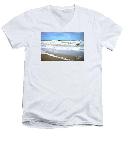 Catch A Wave Men's V-Neck T-Shirt by Shelia Kempf