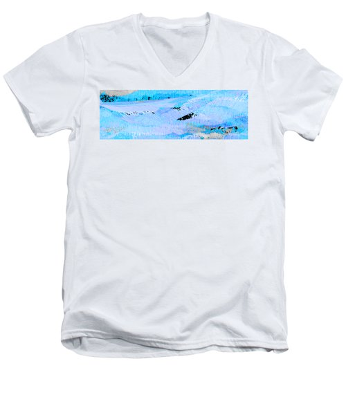 Catching Waves Men's V-Neck T-Shirt by Stephanie Grant