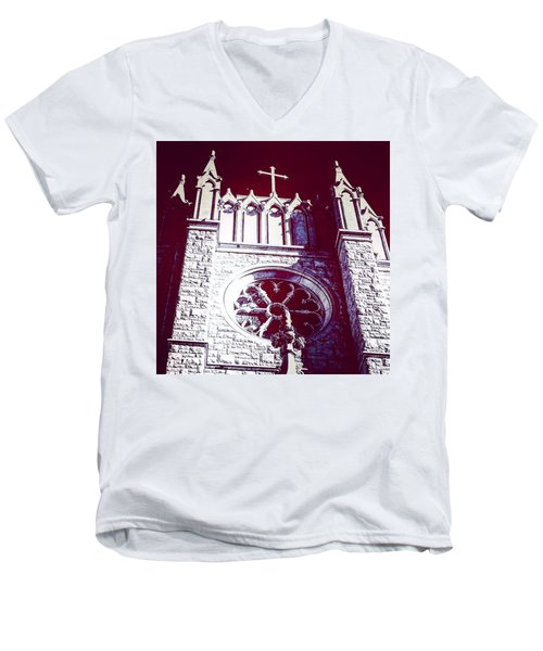 Cathedral In Archangel Glow Men's V-Neck T-Shirt