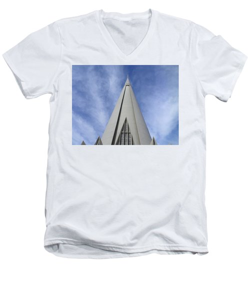 Cathedral Minor Basilica Our Lady Of Glory Men's V-Neck T-Shirt by Bruna Lima