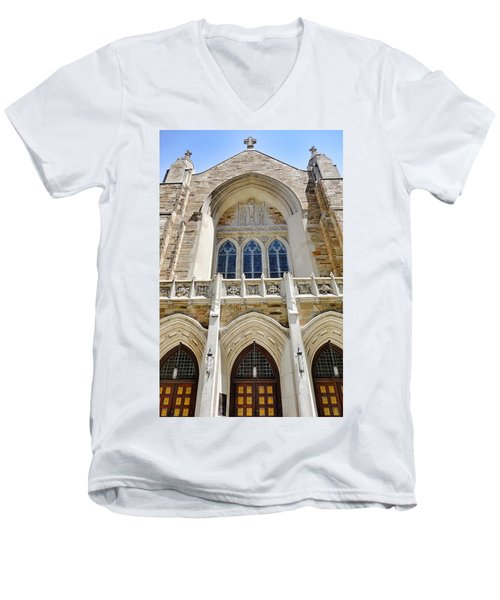 Cathedral Of St John Front Men's V-Neck T-Shirt