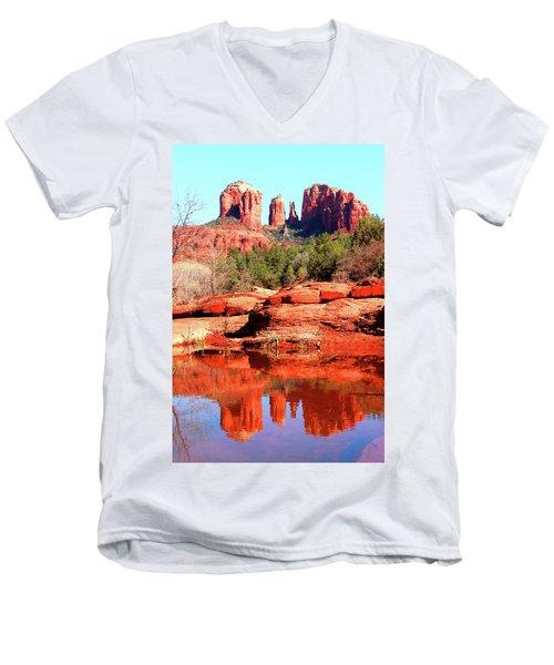 Cathedral Reflections 2 Men's V-Neck T-Shirt