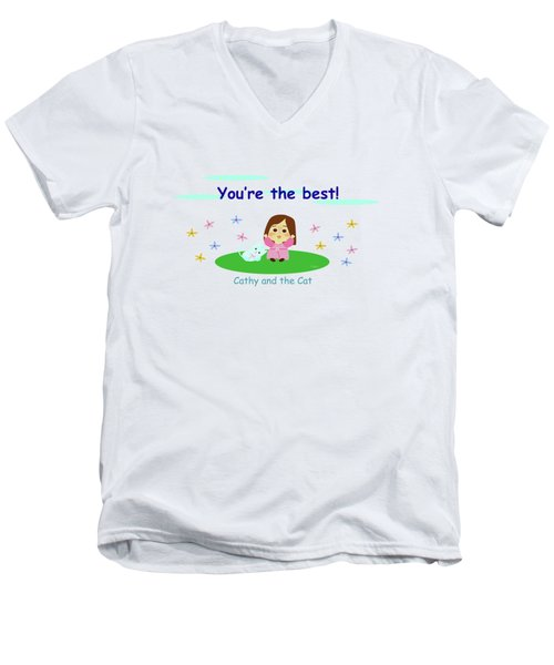 Cathy And The Cat You Are The Best Men's V-Neck T-Shirt