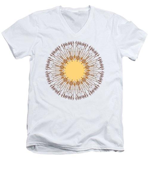 Cattail Mandala - Men's V-Neck T-Shirt