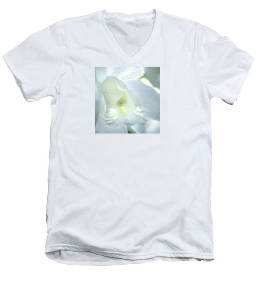 Cattleya Orchid #3 Men's V-Neck T-Shirt by George Robinson