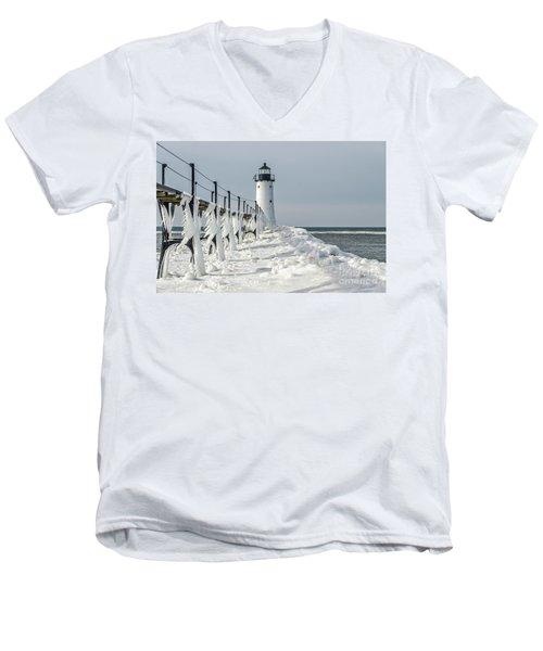 Catwalk With Icy Fringe - Horizontal Version Men's V-Neck T-Shirt