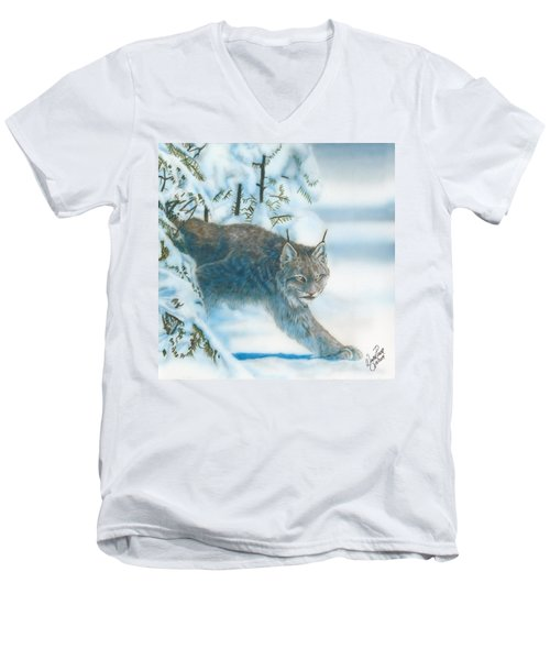 Caught In The Open Men's V-Neck T-Shirt