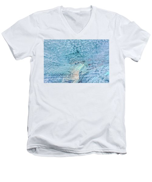 Men's V-Neck T-Shirt featuring the photograph Cave Colors by Wanda Krack