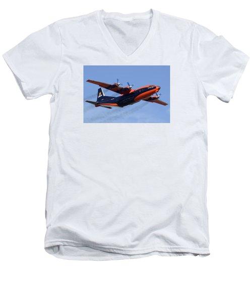 Cavok Air Antonov An-12b Ur-ckl Phoenix Sky Harbor December 2 2015 Men's V-Neck T-Shirt by Brian Lockett