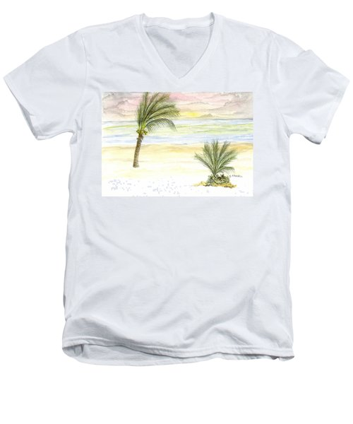 Cayman Beach Men's V-Neck T-Shirt