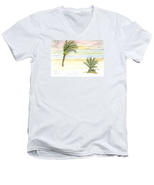 Cayman Beach Men's V-Neck T-Shirt