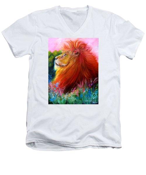 Cecil  Men's V-Neck T-Shirt by Patrice Torrillo