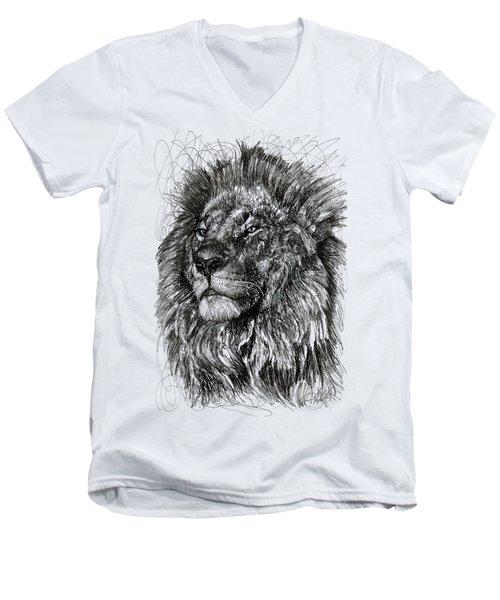 Cecil The Lion Men's V-Neck T-Shirt