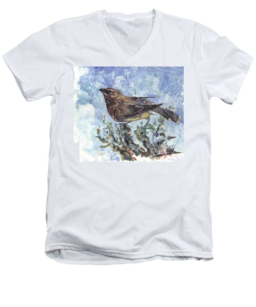 Cedar Waxwing Men's V-Neck T-Shirt