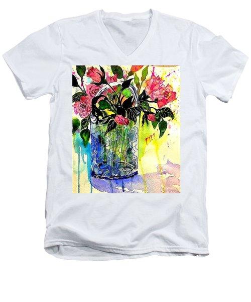 Cecile Brunner's Men's V-Neck T-Shirt