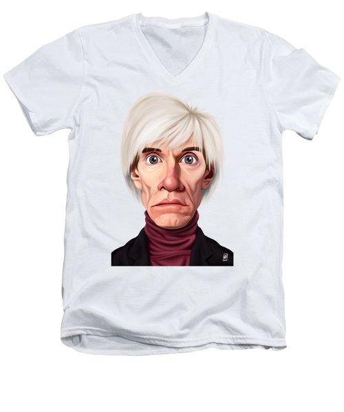 Celebrity Sunday - Andy Warhol Men's V-Neck T-Shirt