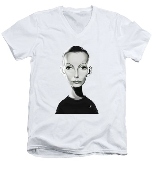 Celebrity Sunday - Greta Garbo Men's V-Neck T-Shirt