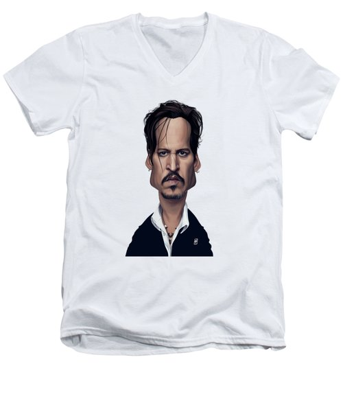 Celebrity Sunday - Johnny Depp Men's V-Neck T-Shirt