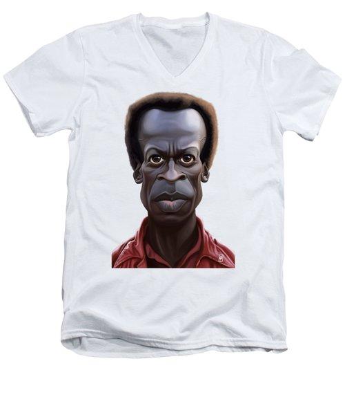 Celebrity Sunday - Miles Davies Men's V-Neck T-Shirt