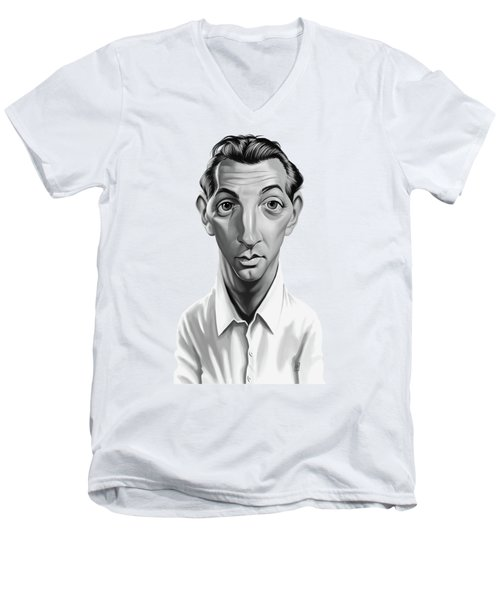 Celebrity Sunday - Robert Mitchum Men's V-Neck T-Shirt