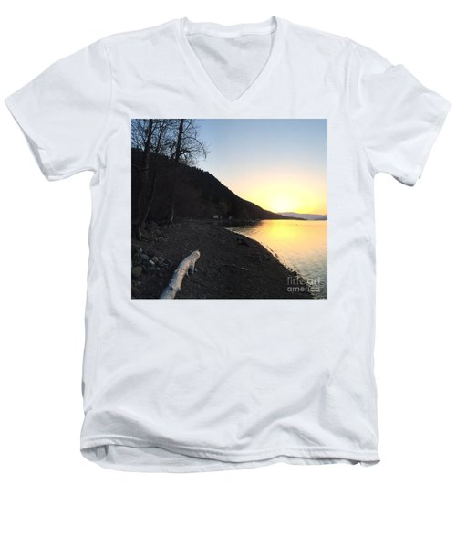 Men's V-Neck T-Shirt featuring the photograph Celista Sunrise 1 by Victor K
