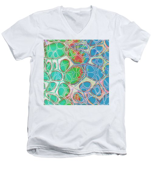 Cell Abstract 10 Men's V-Neck T-Shirt