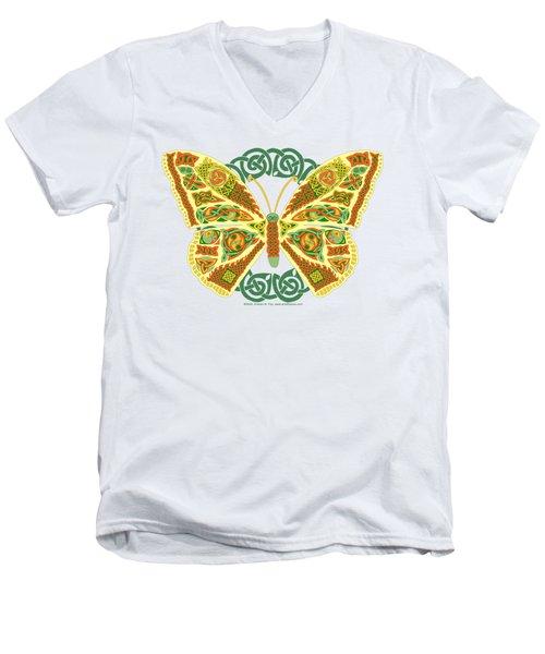 Celtic Butterfly Men's V-Neck T-Shirt by Kristen Fox