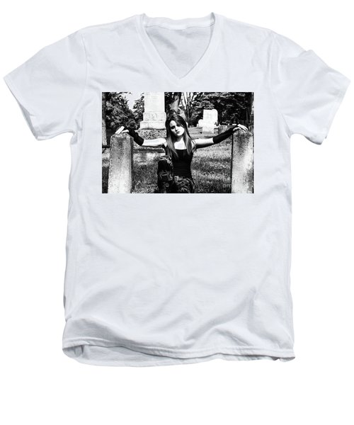 Cemetery Girl Men's V-Neck T-Shirt