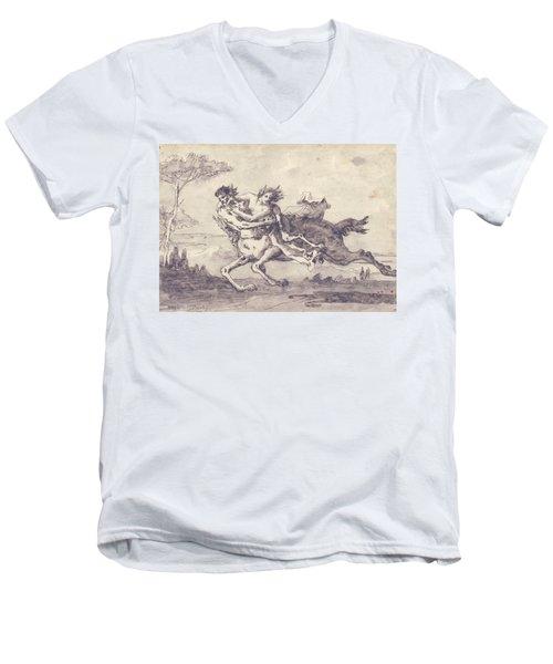Centaur Abducting A Satyress Men's V-Neck T-Shirt