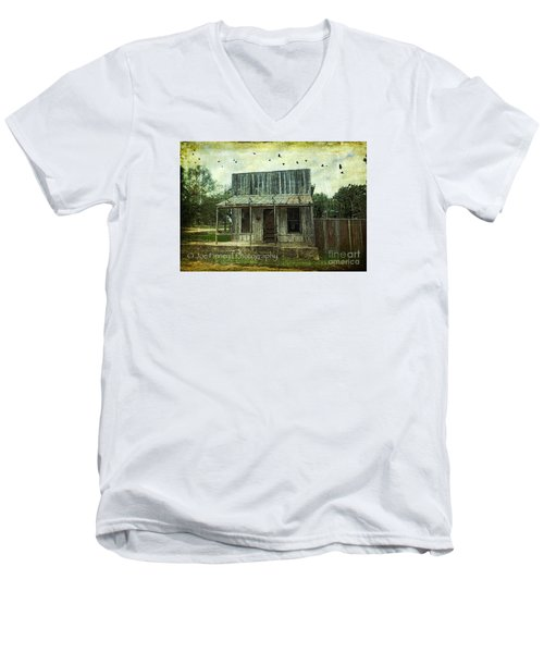 Men's V-Neck T-Shirt featuring the photograph Central London - No.1127 by Joe Finney