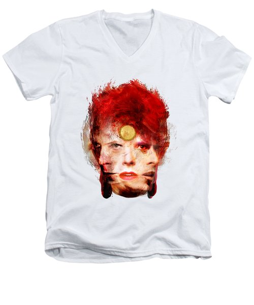 Ch Ch Changes David Bowie Portrait Men's V-Neck T-Shirt
