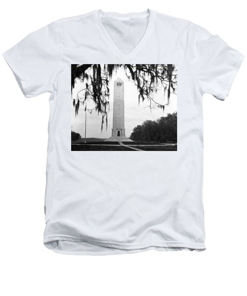 Chalmette Battlefield Monument  Men's V-Neck T-Shirt