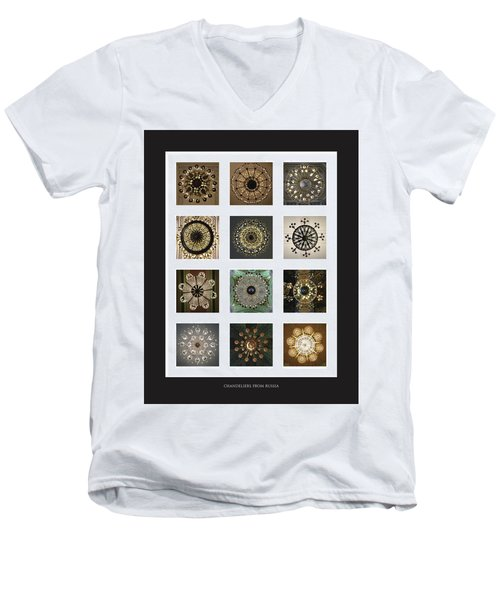 Collection Poster Chandeliers From Russia Men's V-Neck T-Shirt