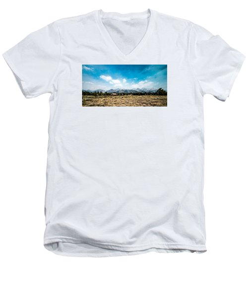 Chapel Of The Transfiguration Men's V-Neck T-Shirt by Cathy Donohoue