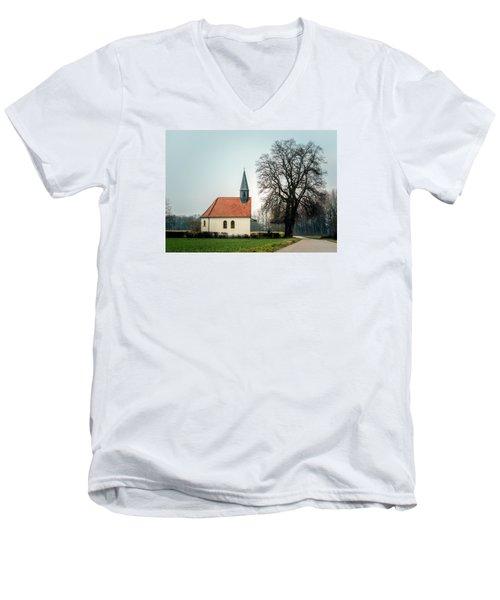 Chapel Under The Tree Men's V-Neck T-Shirt by Daniel Precht