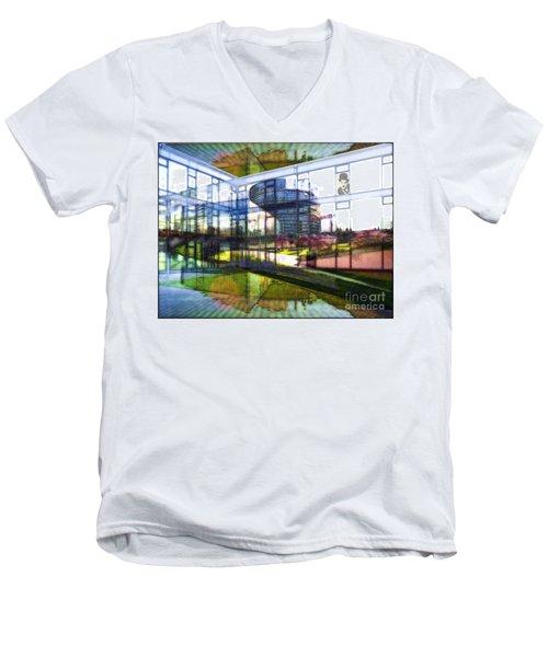 Chaplin Ihn Strassburg Men's V-Neck T-Shirt by Mojo Mendiola