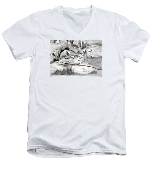 Pat's Field Men's V-Neck T-Shirt