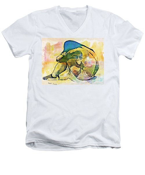 Charcoal Model #4 Men's V-Neck T-Shirt
