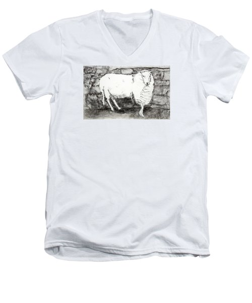 Charcoal Sheep Men's V-Neck T-Shirt