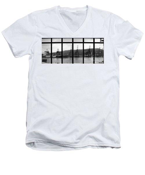 Charging Dock Of Barcelona Men's V-Neck T-Shirt