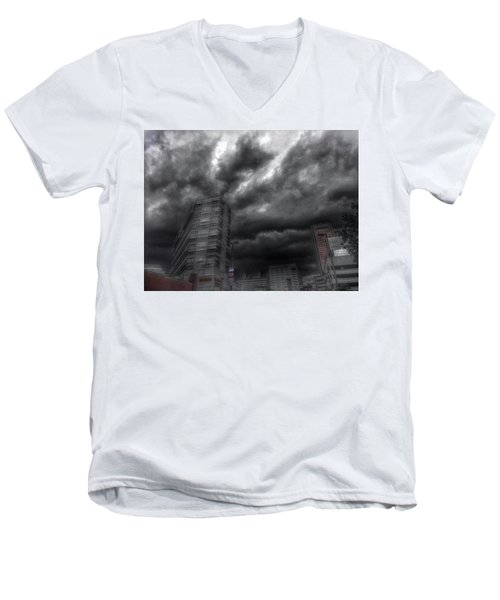 Men's V-Neck T-Shirt featuring the photograph Charles And Conway 5 June 16 by Toni Martsoukos