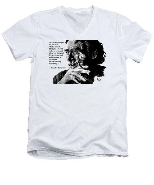 Charles Bukowski Men's V-Neck T-Shirt