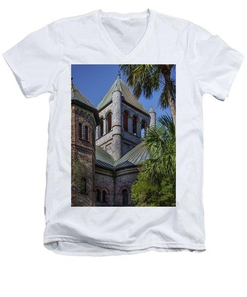 Charleston Historic Church Men's V-Neck T-Shirt